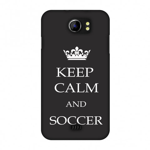 Soccer - Keep Calm And Soccer - Grey Slim Hard Shell Case For Micromax Canvas 2 A110