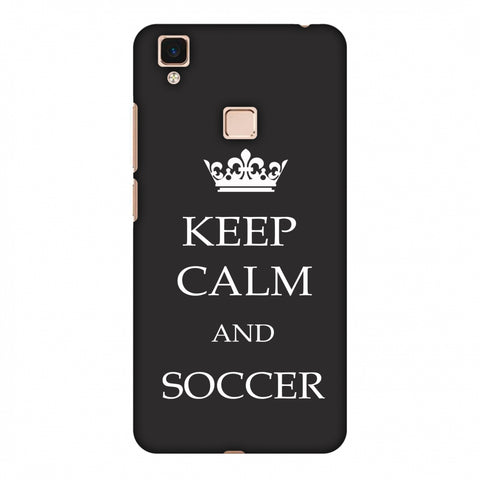 Soccer - Keep Calm And Soccer - Grey Slim Hard Shell Case For Vivo V3 Max