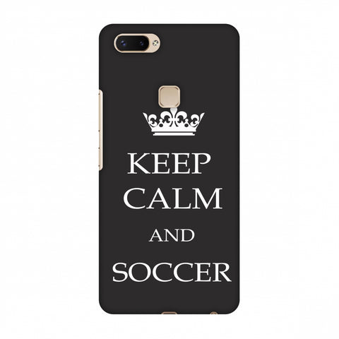Soccer - Keep Calm And Soccer - Grey Slim Hard Shell Case For Vivo X20 Plus