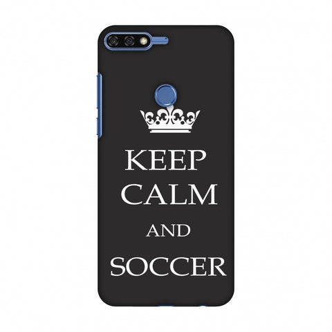 Soccer - Keep Calm And Soccer - Grey Slim Hard Shell Case For Huawei Honor 7C