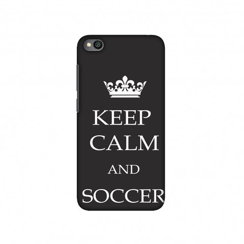 Soccer - Keep Calm And Soccer - Grey Slim Hard Shell Case For Redmi Go