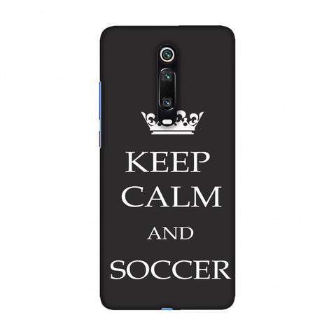 Soccer - Keep Calm And Soccer - Grey Slim Hard Shell Case For Redmi K20/K20 Pro