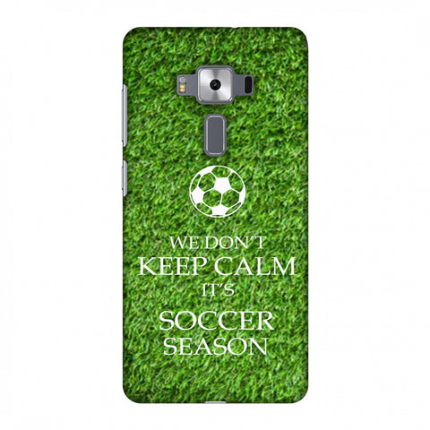 Soccer - We Don't Keep Calm - Green Grass Slim Hard Shell Case For Asus Zenfone 3 Deluxe ZS570KL