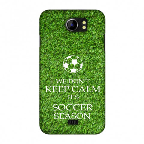 Soccer - We Don't Keep Calm - Green Grass Slim Hard Shell Case For Micromax Canvas 2 A110