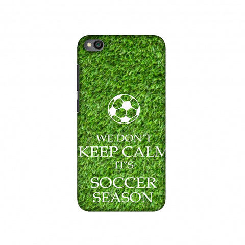 Soccer - We Don't Keep Calm - Green Grass Slim Hard Shell Case For Redmi Go