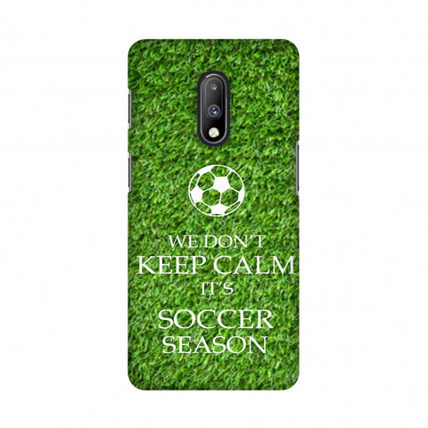 Soccer - We Don't Keep Calm - Green Grass Slim Hard Shell Case For OnePlus 7