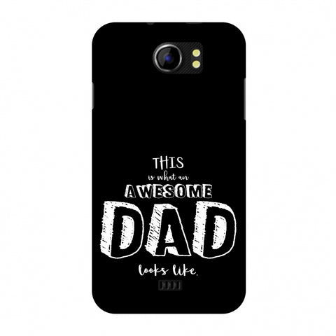 Father's Day - Awesome Dad Slim Hard Shell Case For Micromax Canvas 2 A110