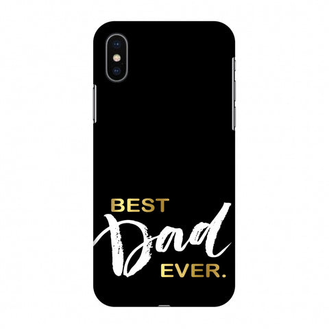 Father's Day - Best Dad Ever Slim Hard Shell Case For Apple iPhone X