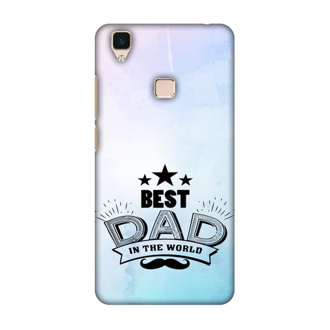 Father's Day - Best Dad In The World Slim Hard Shell Case For Vivo V3