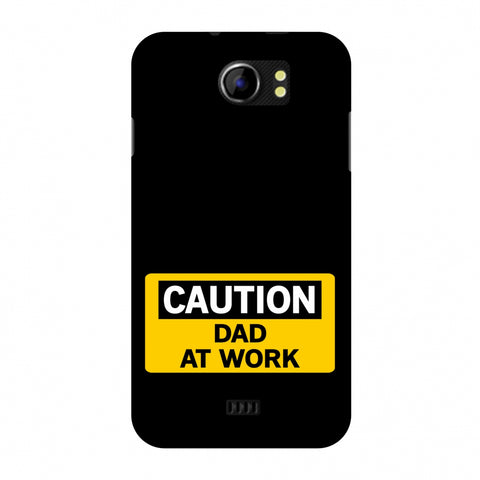 Father's Day - Dad At Work Slim Hard Shell Case For Micromax Canvas 2 A110