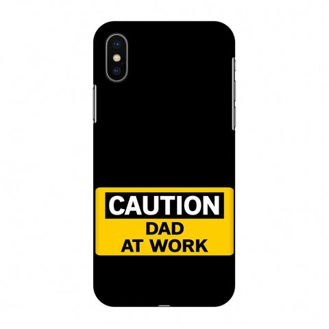 Father's Day - Dad At Work Slim Hard Shell Case For Apple iPhone X