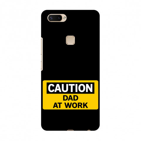 Father's Day - Dad At Work Slim Hard Shell Case For Vivo X20 Plus