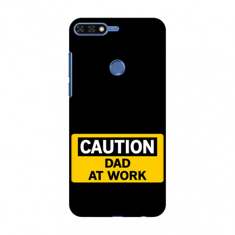 Father's Day - Dad At Work Slim Hard Shell Case For Huawei Honor 7C