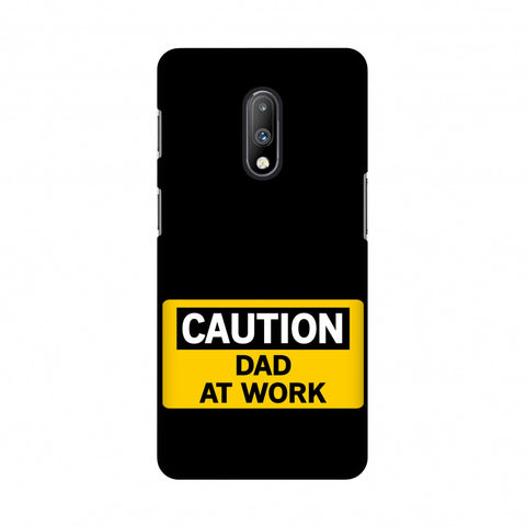 Father's Day - Dad At Work Slim Hard Shell Case For OnePlus 7