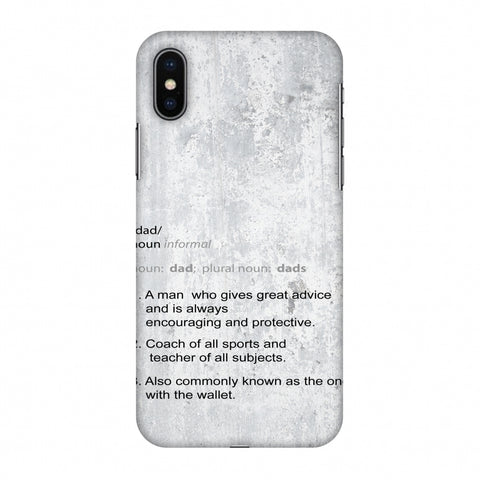 Father's Day - Dad Definition Slim Hard Shell Case For Apple iPhone X