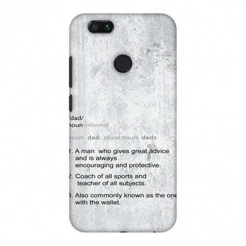 Father's Day - Dad Definition Slim Hard Shell Case For Xiaomi MI A1-5X