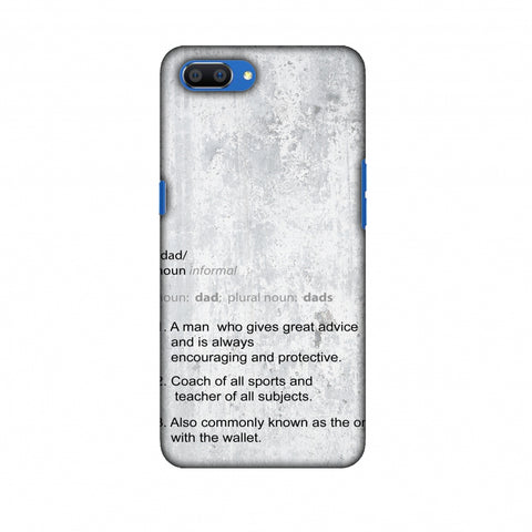 Father's Day - Dad Definition Slim Hard Shell Case For Oppo Realme C1