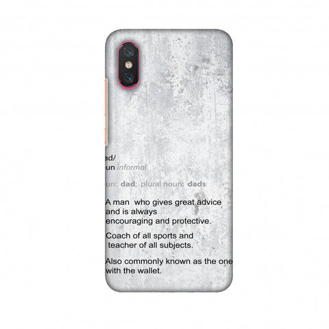 Father's Day - Dad Definition Slim Hard Shell Case For Xiaomi Mi 8 Pro