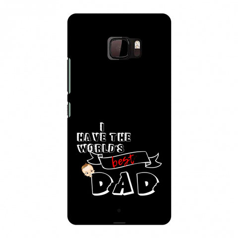 Father's Day - I Have World's Best Dad Slim Hard Shell Case For HTC U Ultra
