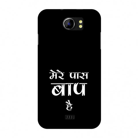 Father's Day - Baap Hai Slim Hard Shell Case For Micromax Canvas 2 A110
