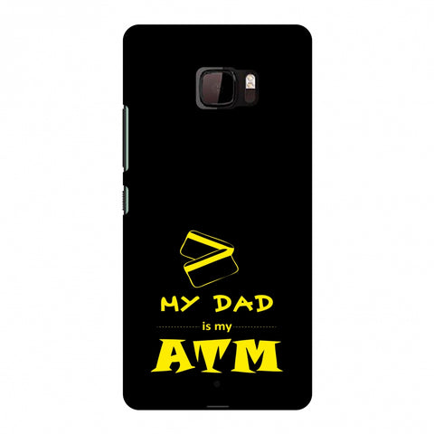 Father's Day - Dad is ATM Slim Hard Shell Case For HTC U Ultra