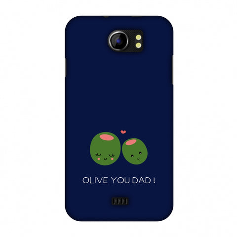 Father's Day - Olive You Dad Slim Hard Shell Case For Micromax Canvas 2 A110