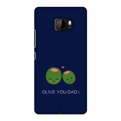 Father's Day - Olive You Dad Slim Hard Shell Case For HTC U Ultra