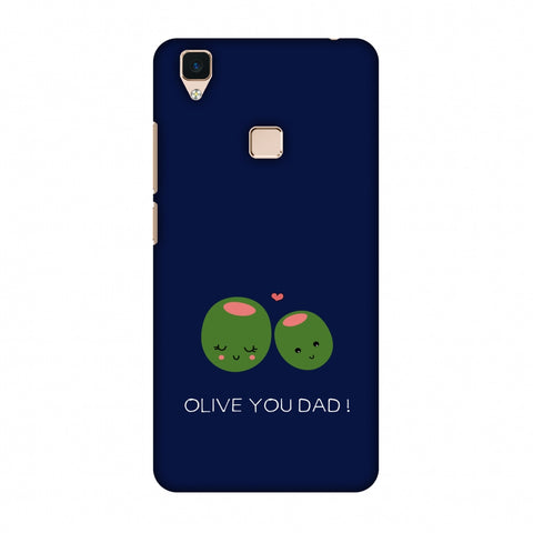 Father's Day - Olive You Dad Slim Hard Shell Case For Vivo V3