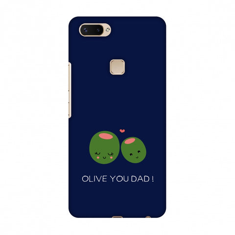 Father's Day - Olive You Dad Slim Hard Shell Case For Vivo X20 Plus