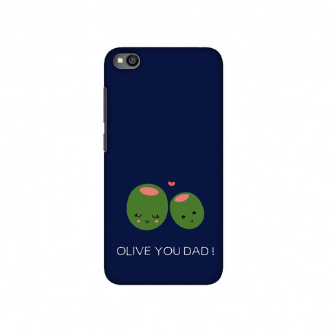 Father's Day - Olive You Dad Slim Hard Shell Case For Redmi Go