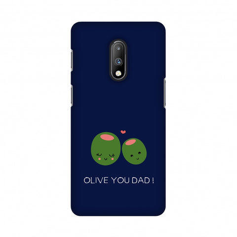 Father's Day - Olive You Dad Slim Hard Shell Case For OnePlus 7