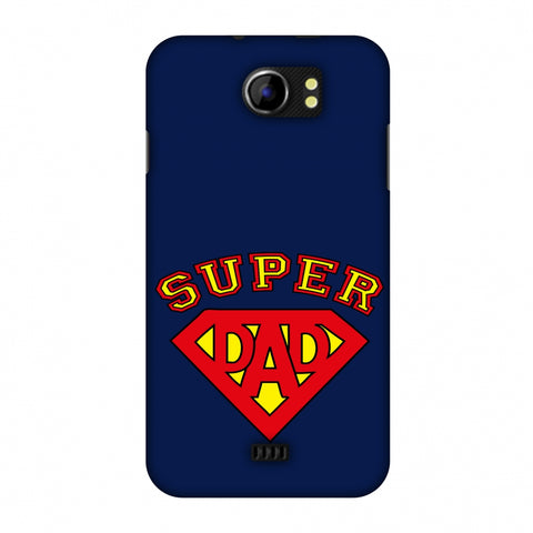 Father's Day - Super Dad Slim Hard Shell Case For Micromax Canvas 2 A110
