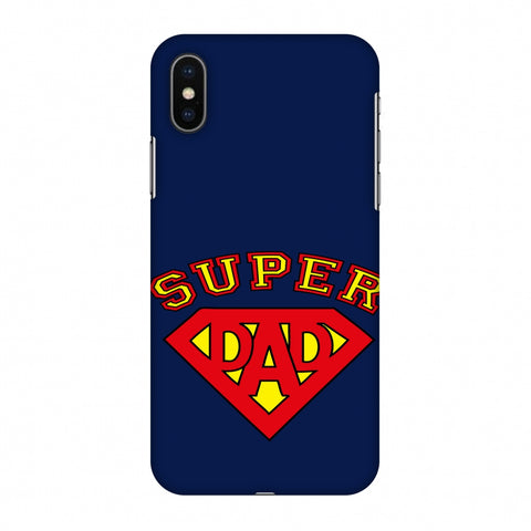 Father's Day - Super Dad Slim Hard Shell Case For Apple iPhone X