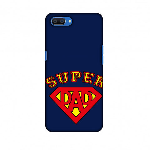 Father's Day - Super Dad Slim Hard Shell Case For Oppo Realme C1