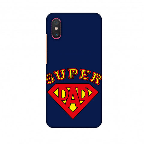 Father's Day - Super Dad Slim Hard Shell Case For Xiaomi Mi 8 Pro
