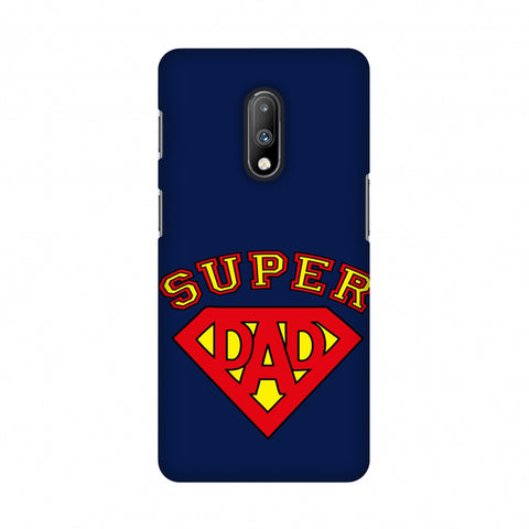 Father's Day - Super Dad Slim Hard Shell Case For OnePlus 7