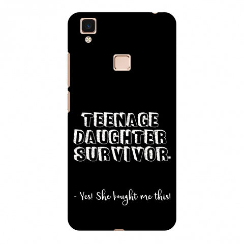 Father's Day - Teenage Daughter Survivor Slim Hard Shell Case For Vivo V3 Max