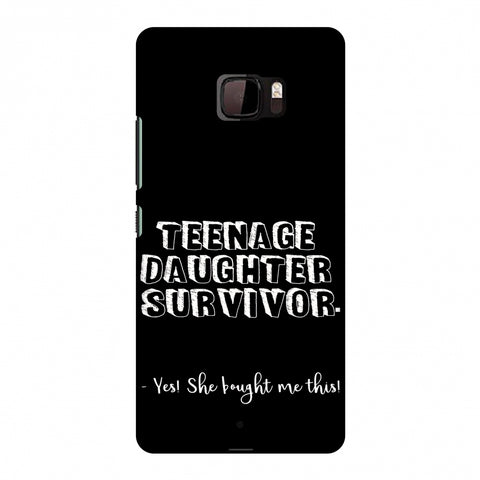 Father's Day - Teenage Daughter Survivor Slim Hard Shell Case For HTC U Ultra