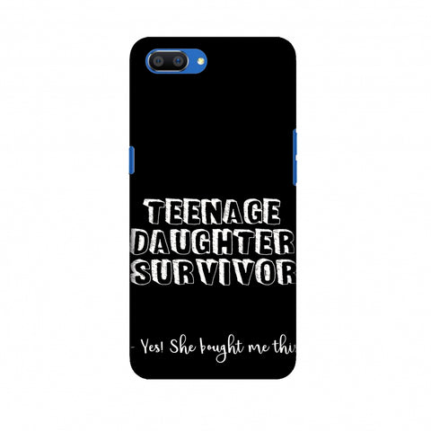Father's Day - Teenage Daughter Survivor Slim Hard Shell Case For Oppo Realme C1