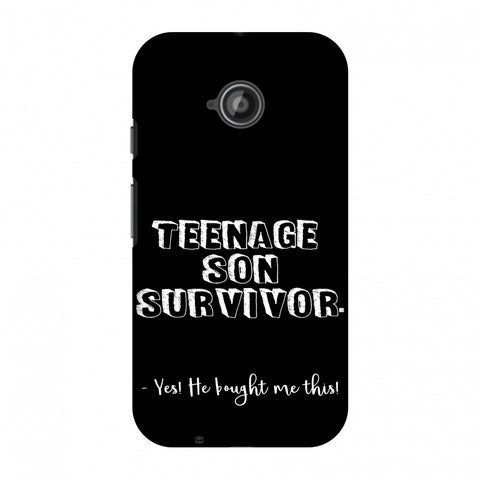 Father's Day - Teenage Son Survivor Slim Hard Shell Case For Motorola Moto E 2nd Gen