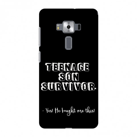 Father's Day - Teenage Son Survivor Slim Hard Shell Case For Asus Zenfone 3 Deluxe ZS570KL