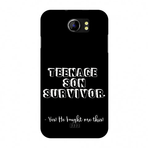 Father's Day - Teenage Son Survivor Slim Hard Shell Case For Micromax Canvas 2 A110