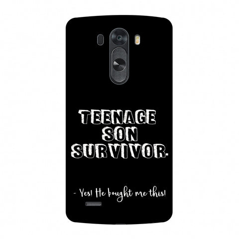 Father's Day - Teenage Son Survivor Slim Hard Shell Case For LG G4