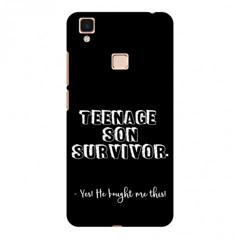 Father's Day - Teenage Son Survivor Slim Hard Shell Case For Vivo V3 Max