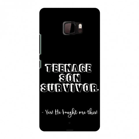 Father's Day - Teenage Son Survivor Slim Hard Shell Case For HTC U Ultra