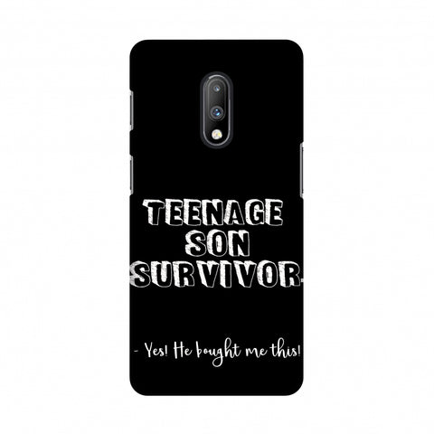 Father's Day - Teenage Son Survivor Slim Hard Shell Case For OnePlus 7