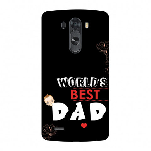 Father's Day - World's Best Dad Slim Hard Shell Case For LG G4