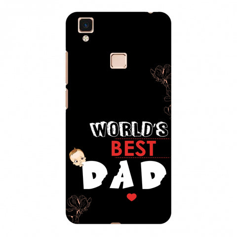 Father's Day - World's Best Dad Slim Hard Shell Case For Vivo V3 Max