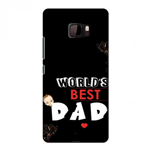 Father's Day - World's Best Dad Slim Hard Shell Case For HTC U Ultra