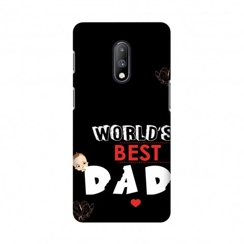 Father's Day - World's Best Dad Slim Hard Shell Case For OnePlus 7
